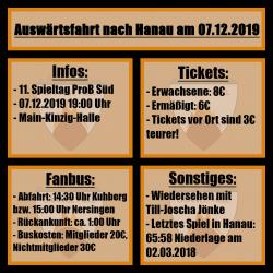 Auswärtsfahrt Hanau